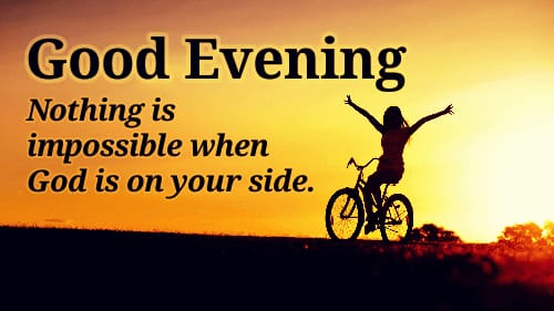 Best new Good evening quotes in English images