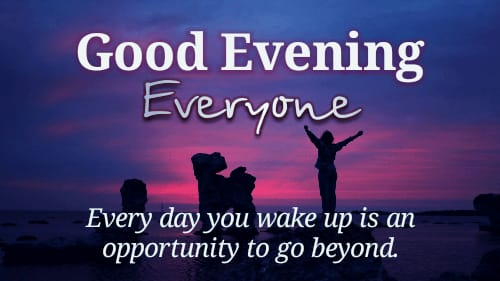 Download Good evening quotes in English images