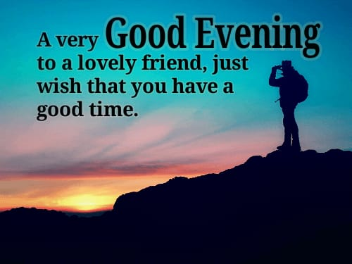 Good evening quotes in English images