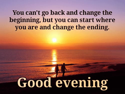 sweet good evening quotes images