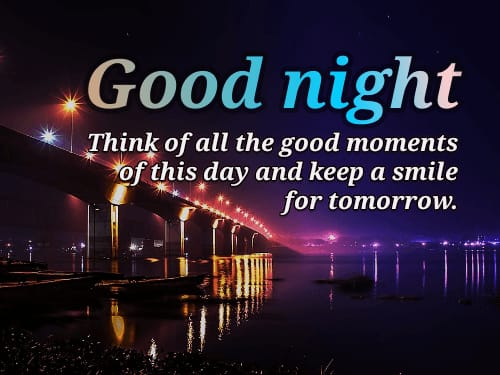 Happy Good Night Thanking Quotes in English images
