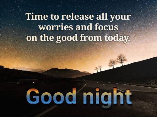 Good Night Quotes in English images