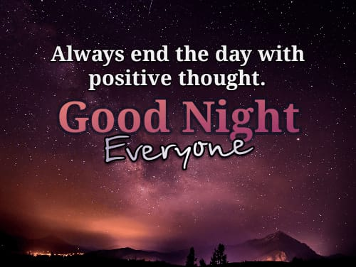 Good Night positive Thoughts Quotes in English images