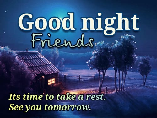 Good Night Quotes in English images for status