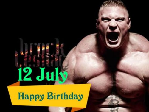 Happy Birthday Brock lesnar wishes images for status