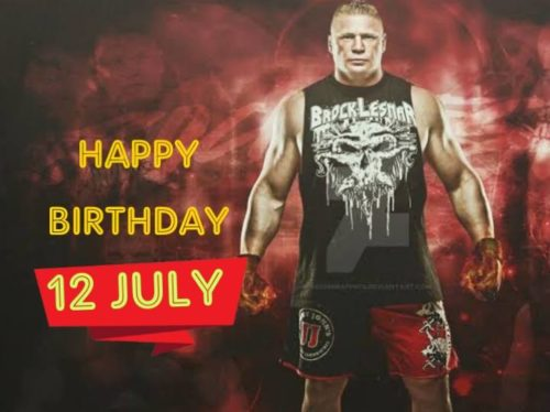 Latest Happy Birthday Brock lesnar wishes images