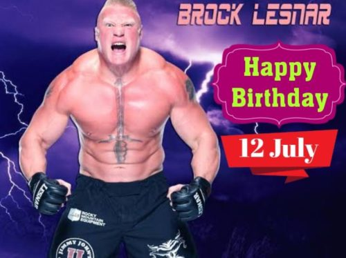 Happy Birthday Brock lesnar wishes images