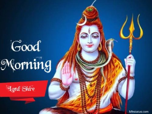 Happy Good Morning lord shiv images for status