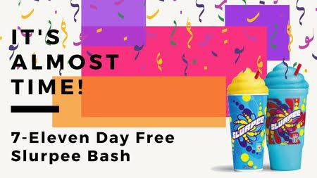 National Free Slurpee Day greeting photos