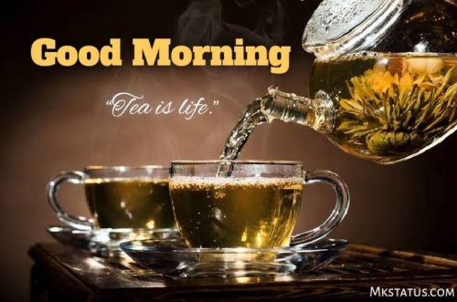 good morning with tea cup images