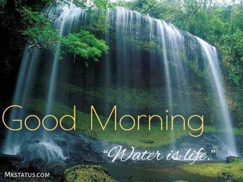 Good morning waterfall pictures