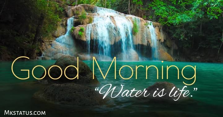 Good morning waterfall images