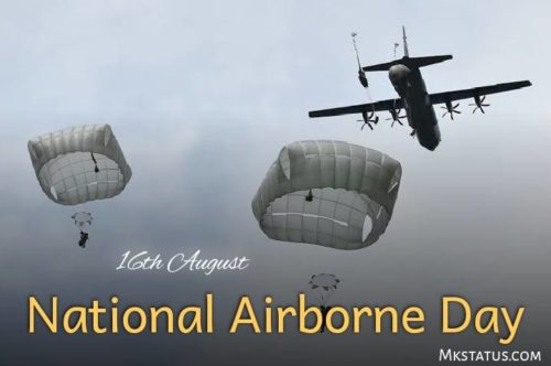 16th August National Airborne Day wishes photos