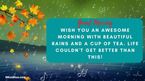 Rainy Good Morning Messages images