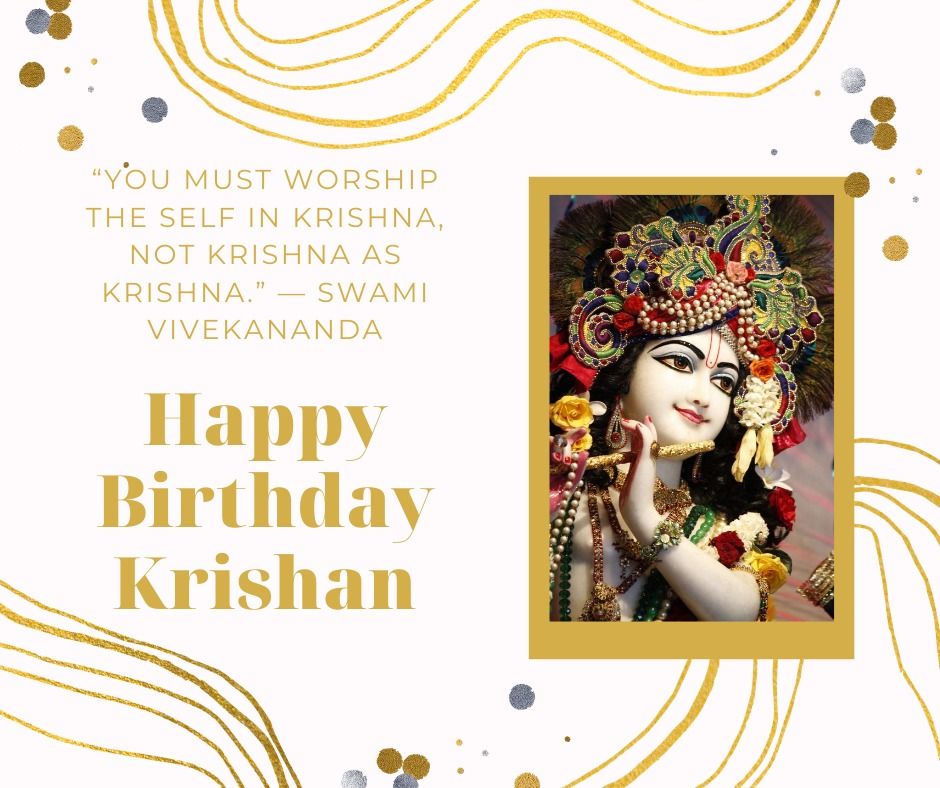 Happy Birthday Shri Krishna wishes images with quotes
