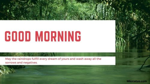 Rainy Good Morning Messages images for status