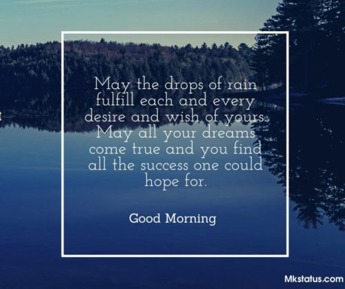 Latest Rainy Good Morning Messages images