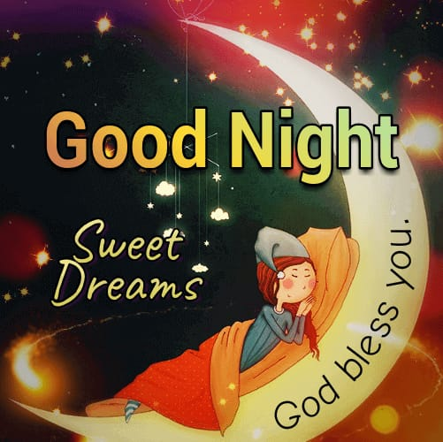 Good Night Sweet Dreams wishes photo
