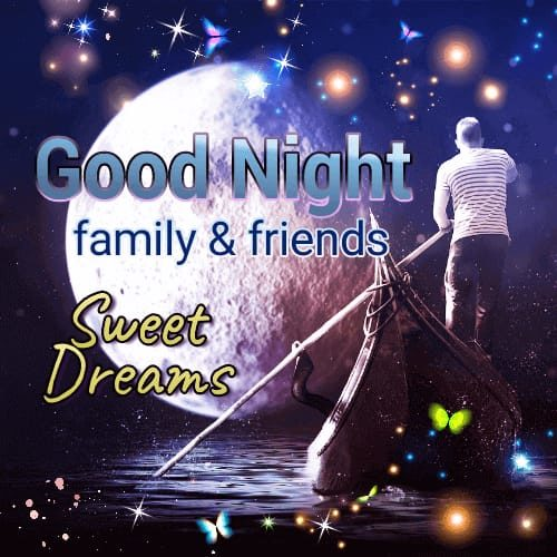 Good Night Sweet Dreams wishes photos for family
