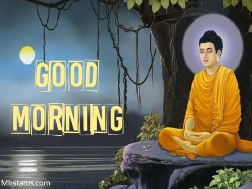 good morning by buddha images