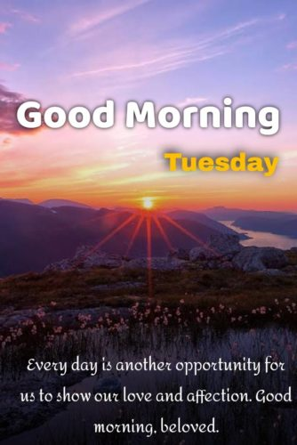 Beautiful Good Morning wishes images with quotes for Tuesday