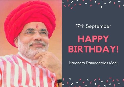 Happy Birthday Narendra Modi wishes images for status