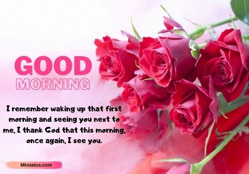 Good Morning Romantic rose images with quotes