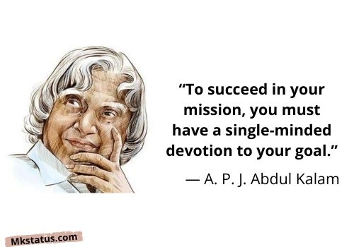 Download A. P. J. Abdul Kalam Quotes on life