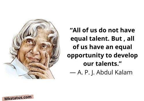 Best A. P. J. Abdul Kalam Quotes on life