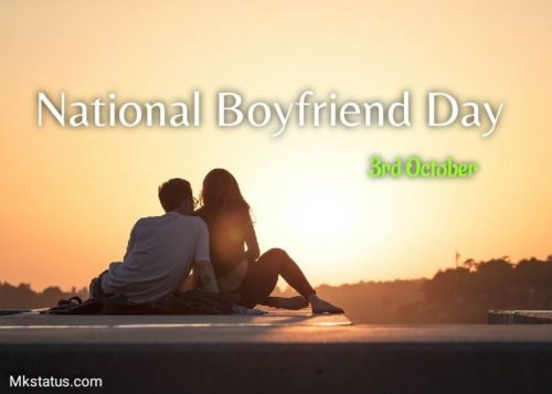 National Boyfriend Day wishes images for status