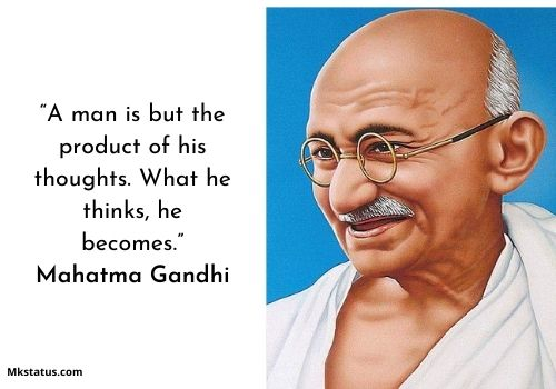 happy mahatma gandhi jayanti quotes images for Facebook