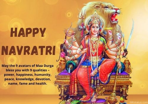 Navratri 2020 wishes images with Quotes in English