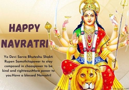 Happy Navratri 2020 wishes images with Quotes in English