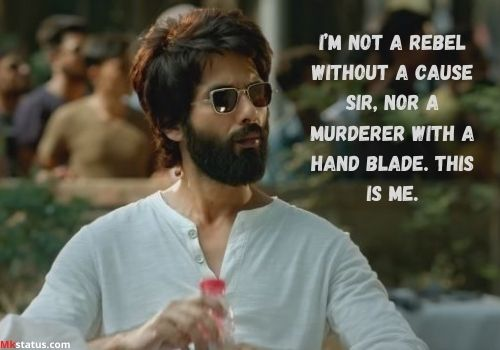 Latest Kabir singh movie dialogue images