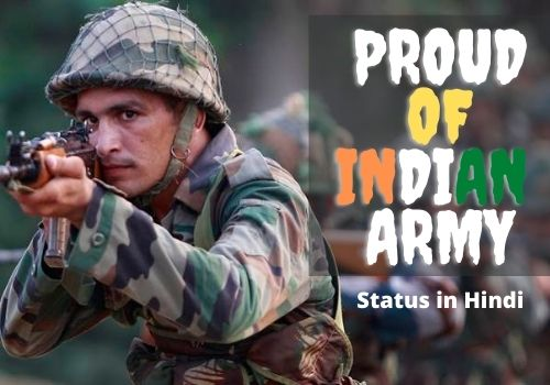 Proud of Indian Army Status in Hindi