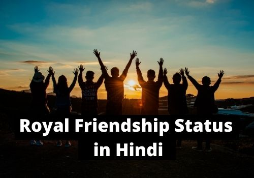 Royal Friendship Status in Hindi