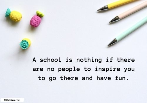 School life Quotes in English