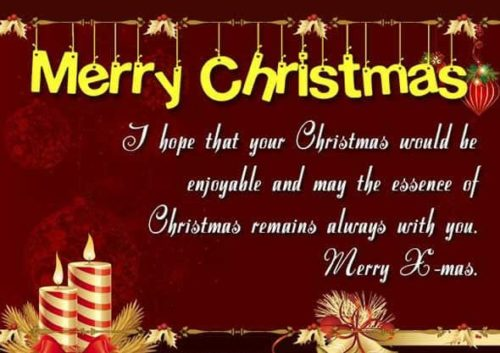 Merry Christmas greeting images with quotes