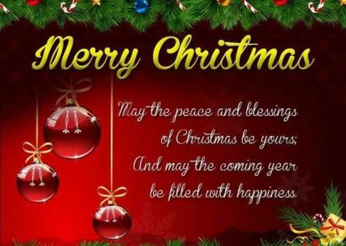 Latest Merry Christmas messages images
