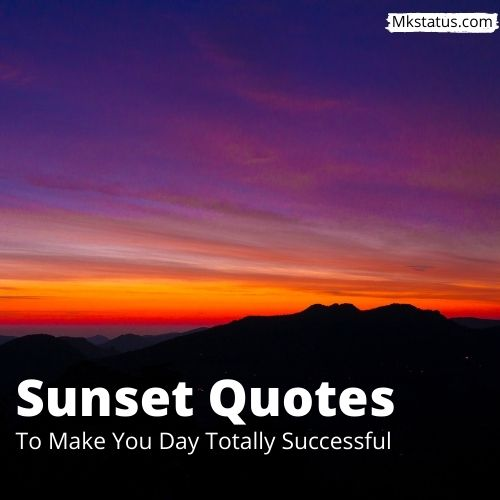 Sunset Quotes images