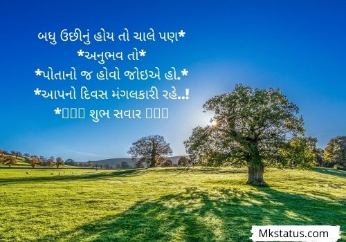 2021 Good Morning wishes Quotes in Gujarati