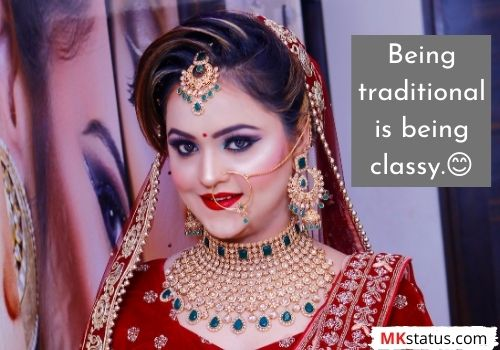 Traditional saree quotes for whatsapp