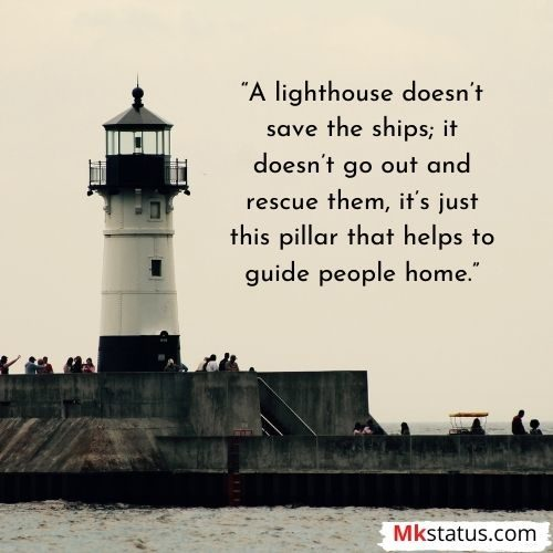 Lighthouse quotes for Instagram