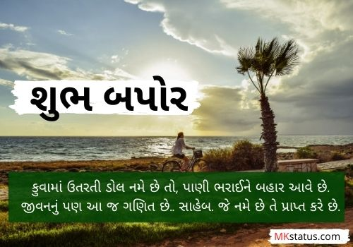 Good Afternoon quotes in gujarati