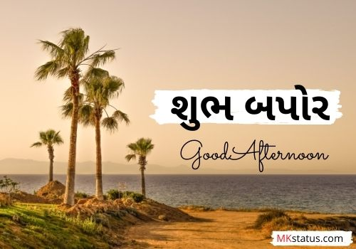 Good Afternoon wishes images in gujarati