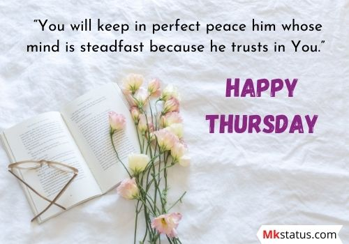 Thursday blessings with bible verses
