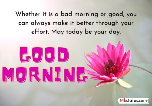 Thoughtful Good Morning message