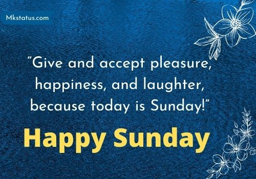 First Sunday Blessings